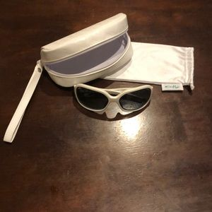 White Oakley Sunglasses with Bag and Case